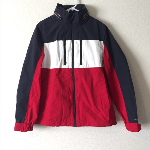 120421923259 Tommy Hilfiger Jackets   Coats   Flag Regatta Navy Blue White Red ...
